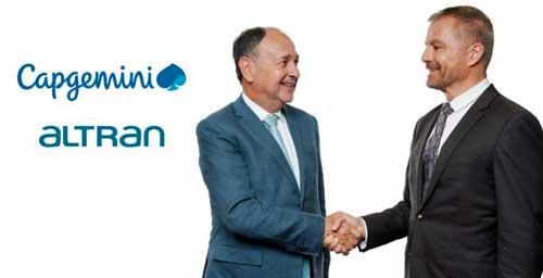 El CEO de Capgemini, Paul Hermelin (izda.), con Dominique Cerutti, CEO de Altran - Foto: Altran