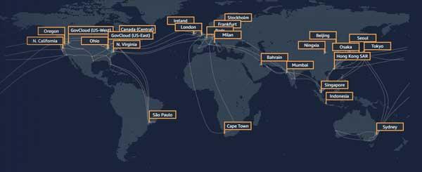 AWS tendrá centros de datos en España. A finales de 2022, abrirá una nueva región en Aragón, la séptima de Europa