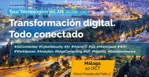 La XIV edición del Tour Tecnonógico @asLAN tendrá cono ejes la ciberseguridad en la transformación digital, la gestión de infraestructuras híbridas y el potencial de los datos