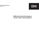 IBM Internet Security Systems X-Force 2007 estadística de tendencias