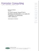 El Total Economic Impact de la plataforma de Informatica y los centros de competencias de integración