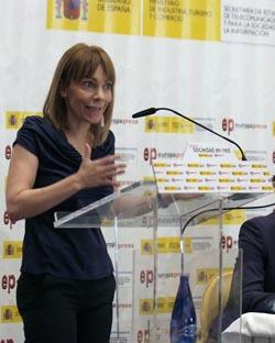 María Garaña, durante su exposición