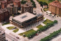 Vista aérea del ayuntamiento de Castrillón