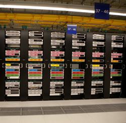 Sala de ordenadores del CPD del BBVA