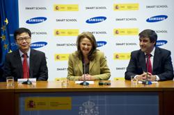 Imagen de la presentación del proyecto Samsung Smart School