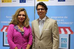 Carmen Cárdeno, directora general de Comercio Interior; y César Miralles, director general de Red.es