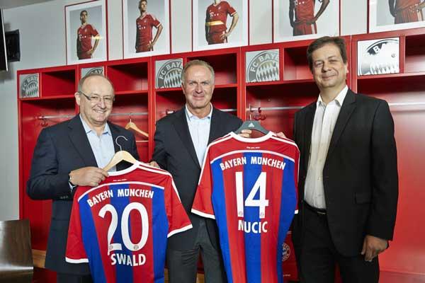 De izda a dcha: Gerhard Oswald, Karl-Heinz Rummenigge y Luka Mucic, CFO y COO de SAP SE - Foto: Andreas Pohlmann / SAP SE