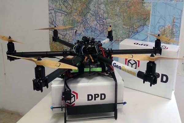 Prototipo de dron para el reparto de paquetes desarrollado por Artechsys - Foto Philippe Cassan