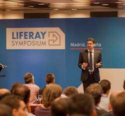 Jorge Ferrer durante su intervención en Liferay Symposium 2014