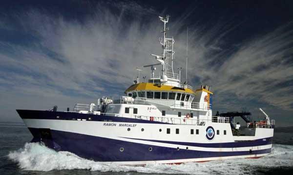 El Ramón Margalef, uno de los buques oceanográficos que usa el IEO para sus investigaciones