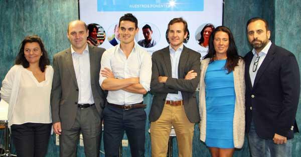 De izda a dcha:  Marta Esteve, Diego Sebastián de Erice, David Campoy, David Vieco, Alicia Ortega y Eduardo Esparza